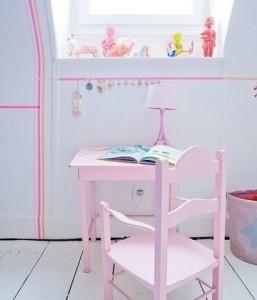 Kinderkamer met masking tape