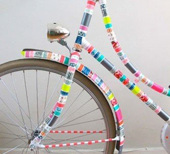 Masking tape op fiets