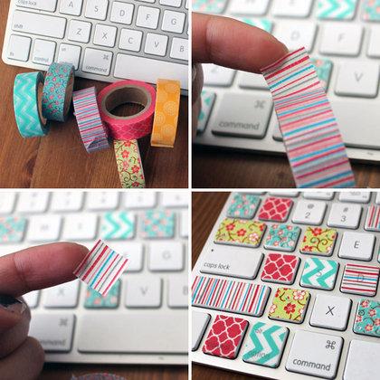 toetsenbord met masking tape