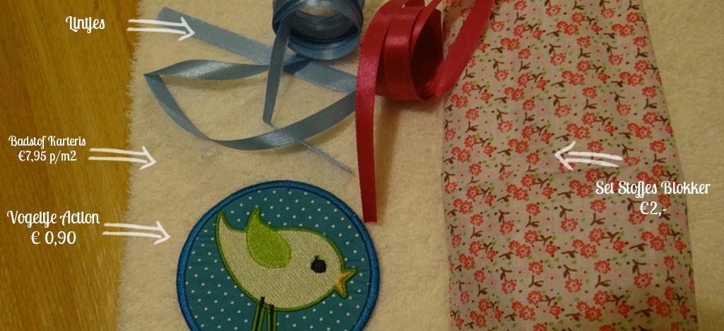 Babydoekje DIY benodigdheden