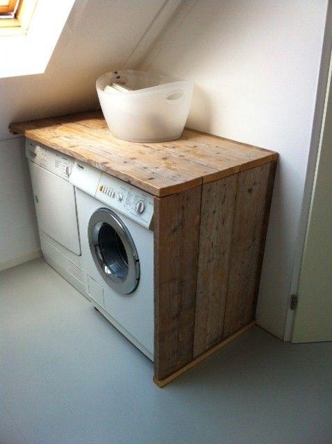 ombouw wasmachine steigerhout
