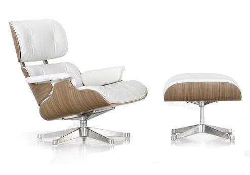 Shopped online charles rar schommelstoel wit livelovehome for Witte leren stoelen