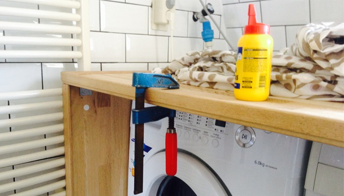 Wasmachine In Badkamer : Diy project wasmachine ombouw livelovehome