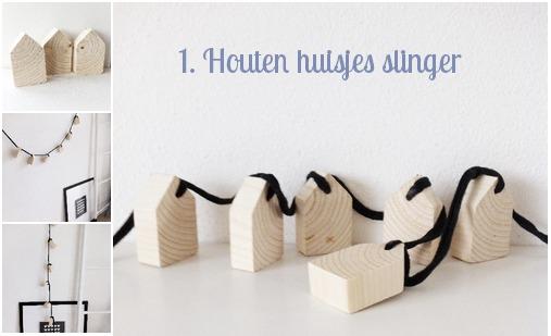 houten huisjes slinger