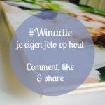 Winactie foto op hout webprint.nl