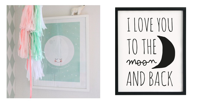 moon and back posters