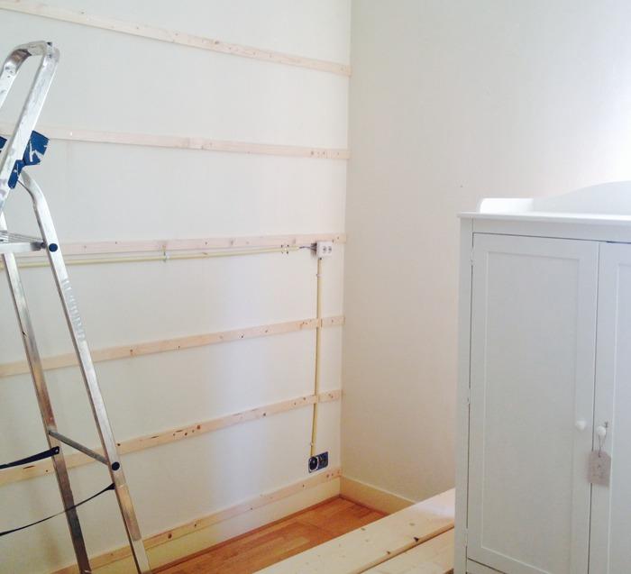 Steigerhouten wand frame