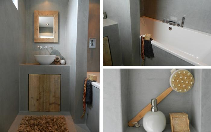 Zwarte Wasbak Badkamer ~ betonstuc badkamer