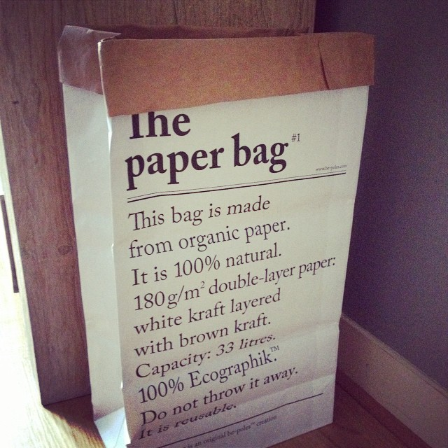 Inspiratie le sac en papier van label123 livelovehome for Papieren zak