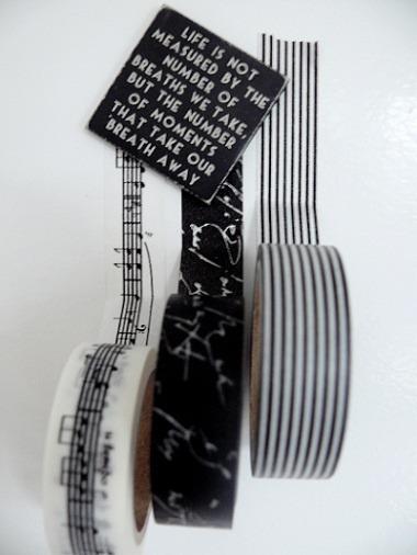 masking tape zwart wit