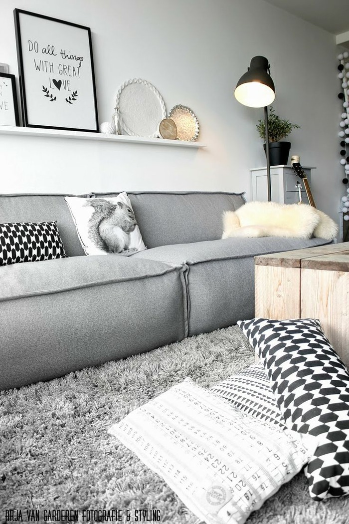Inspiratie zwart wit in je interieur livelovehome - Deco salon zwart wit ...