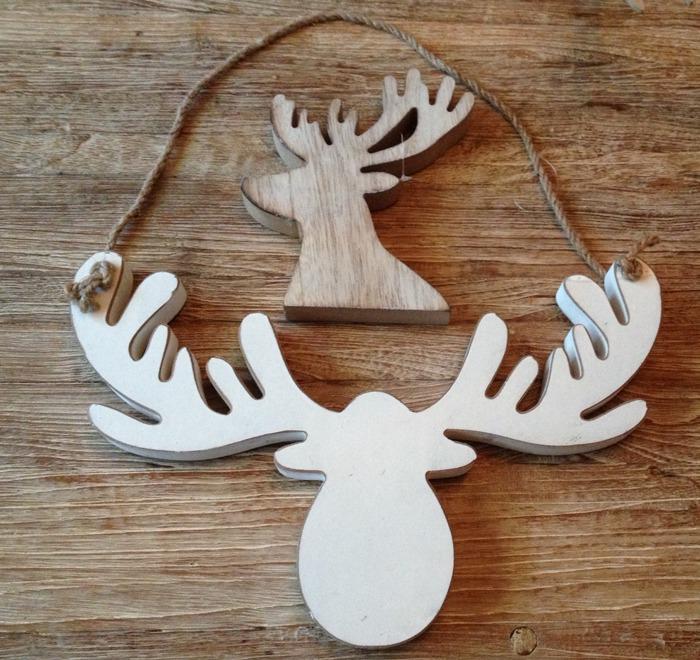houten hert decoratie