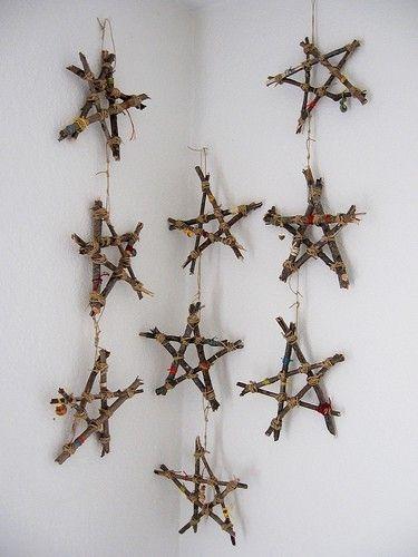 houten kerstslinger