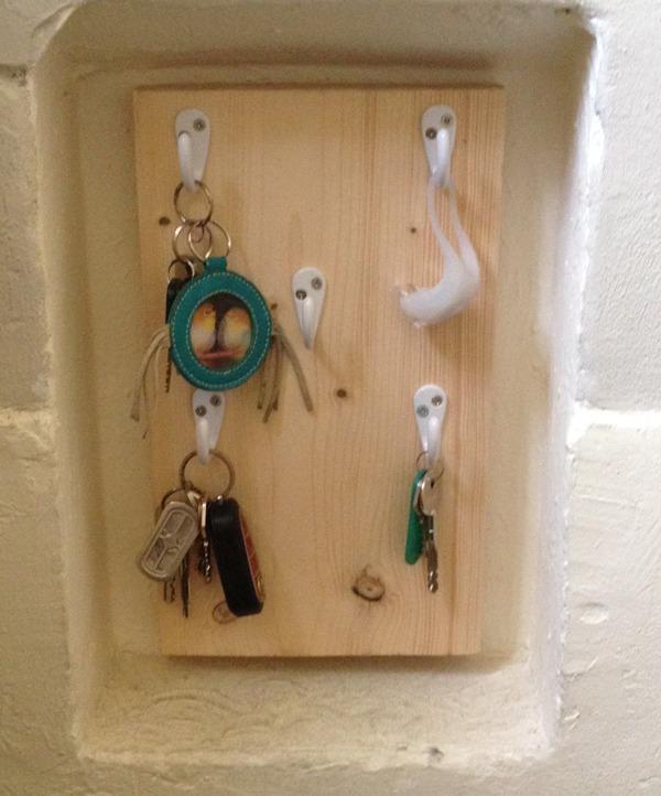 zelf gemaakt sleutelkastje