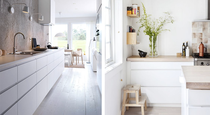 Inspiratie Witte Keuken : Witte keuken met houten werkblad