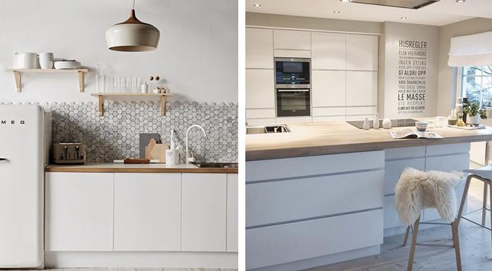 Grijze keuken wit blad - Werkblad voor witte keuken ...