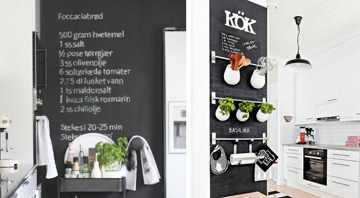 Krijtbord Keuken Ikea : Krijtbordverf op de muur