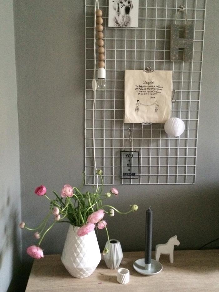 Shopinspiratie houten kralen lamp livelovehome - Wandrek ijzeren ...