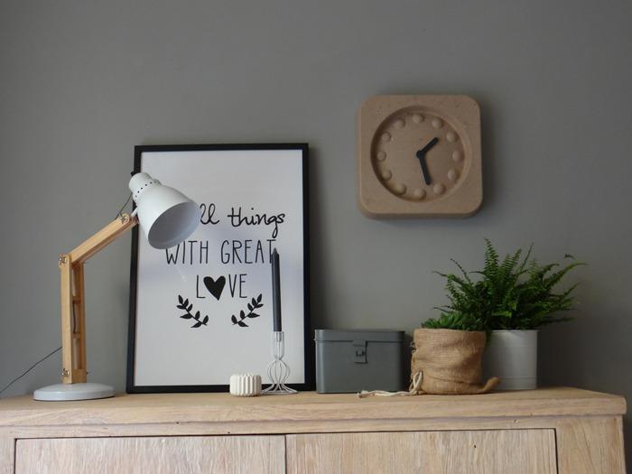 paperpulp wandklok