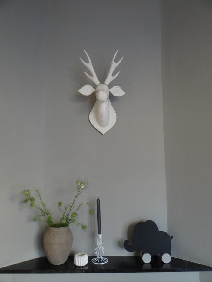 paperpulp vaas in de kamer