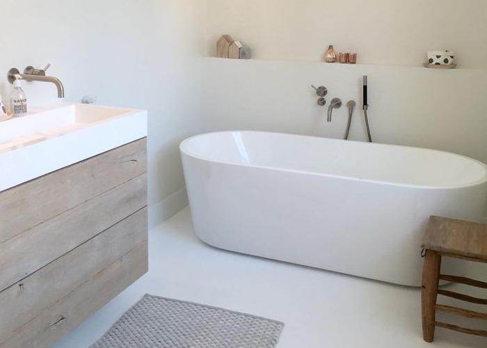 Badkamer inspiratie livelovehome - Kleur idee ruimte zen bad ...
