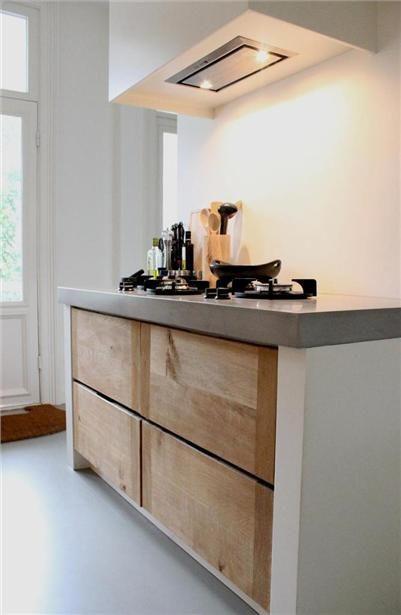 Houten Keuken Met Betonnen Blad : Keukenvloer: Van Portugese tegels tot beton