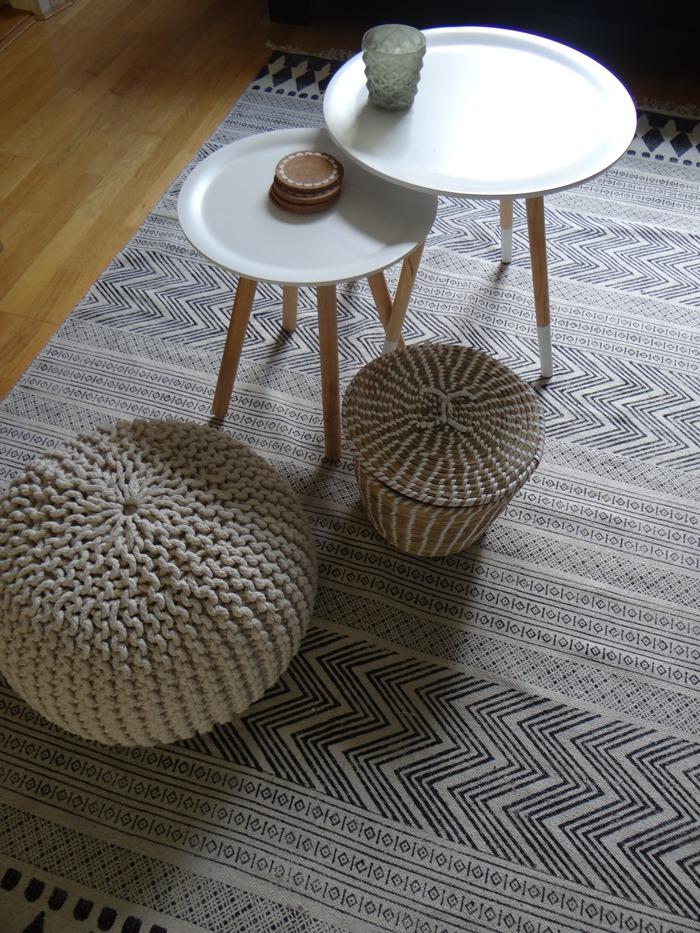 patroon block vloerkleed