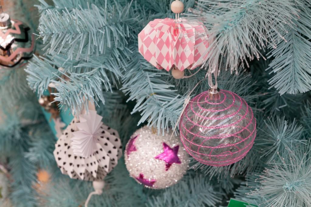 roze kerst decoratie