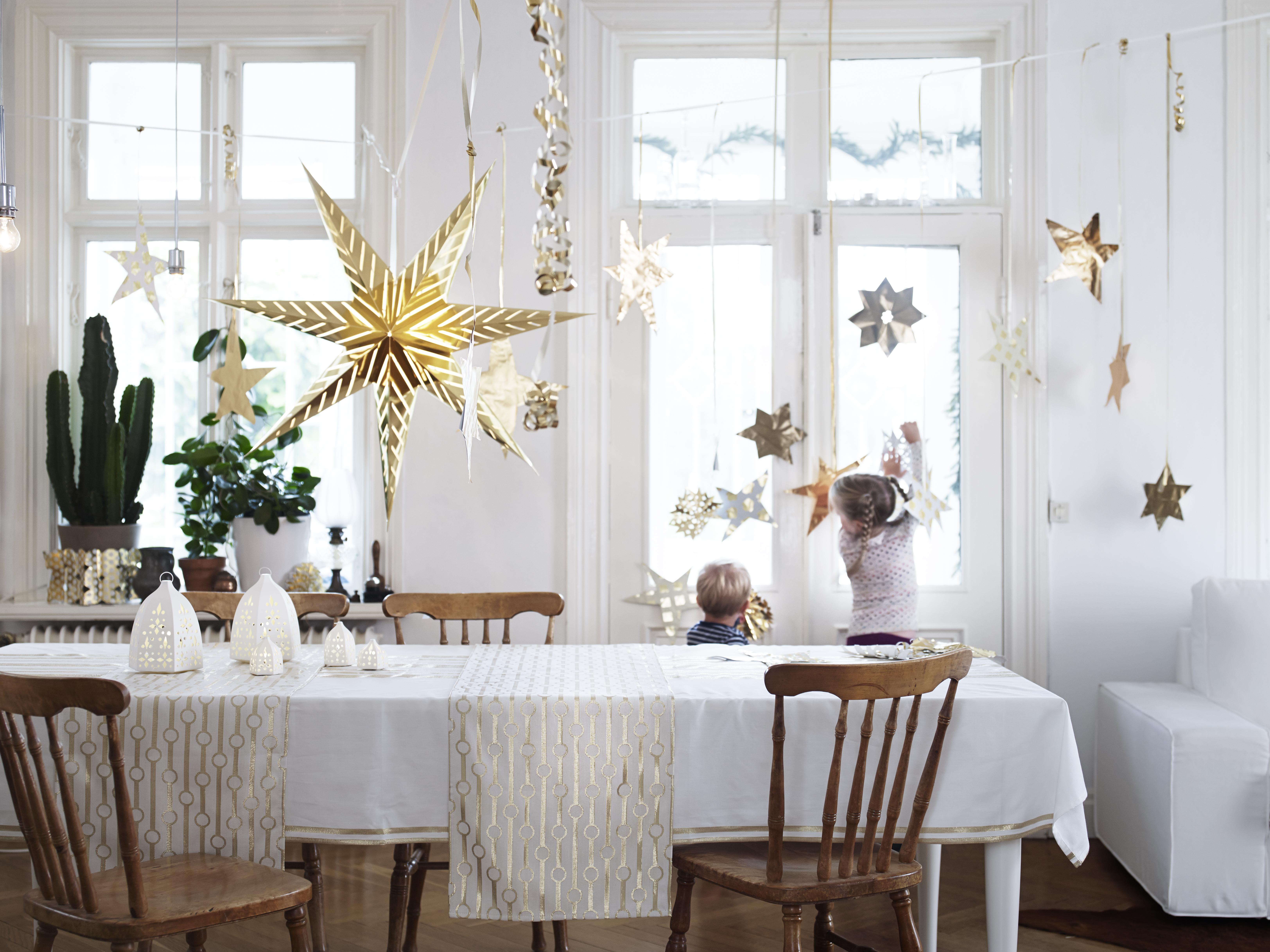 scandinavische kerst decoratie