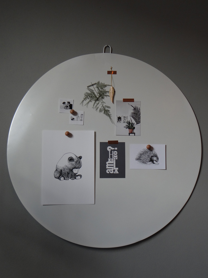 magneetbord wit dichtbij