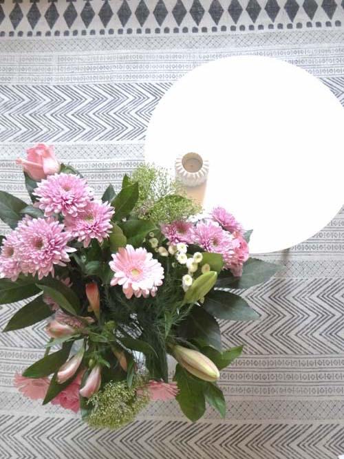 bloemetje roze boeket