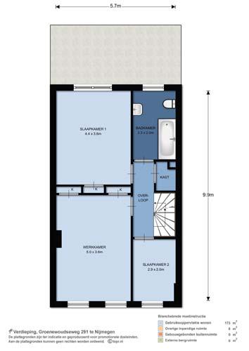 1e verdieping plattegrond