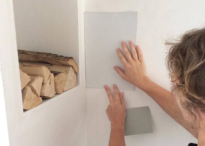 verfstaal op de muur