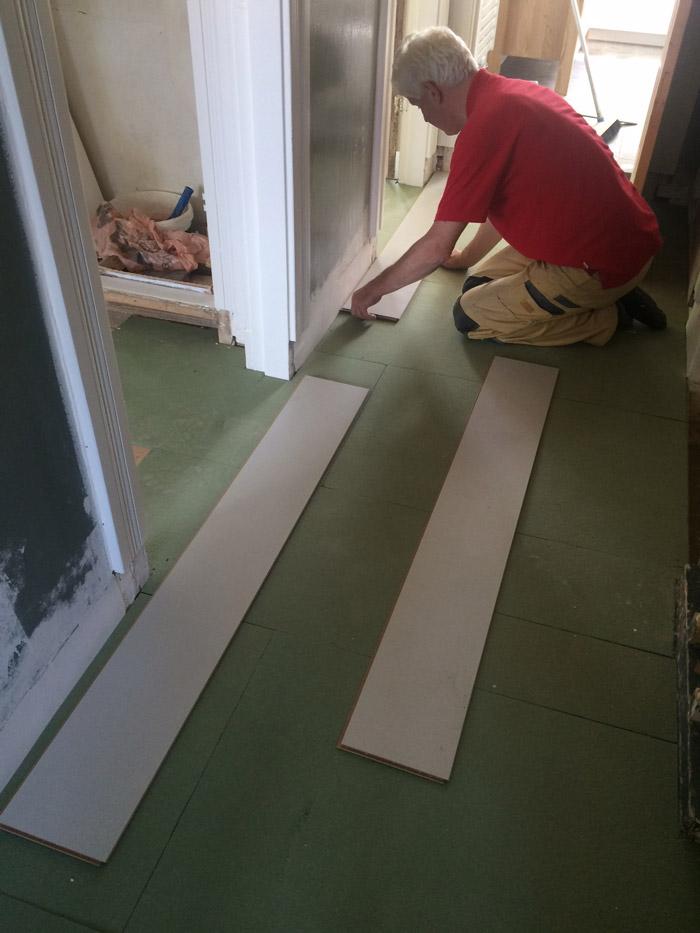 ondervloer laminaat leggen