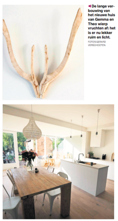 foto interieur houten hertengewei