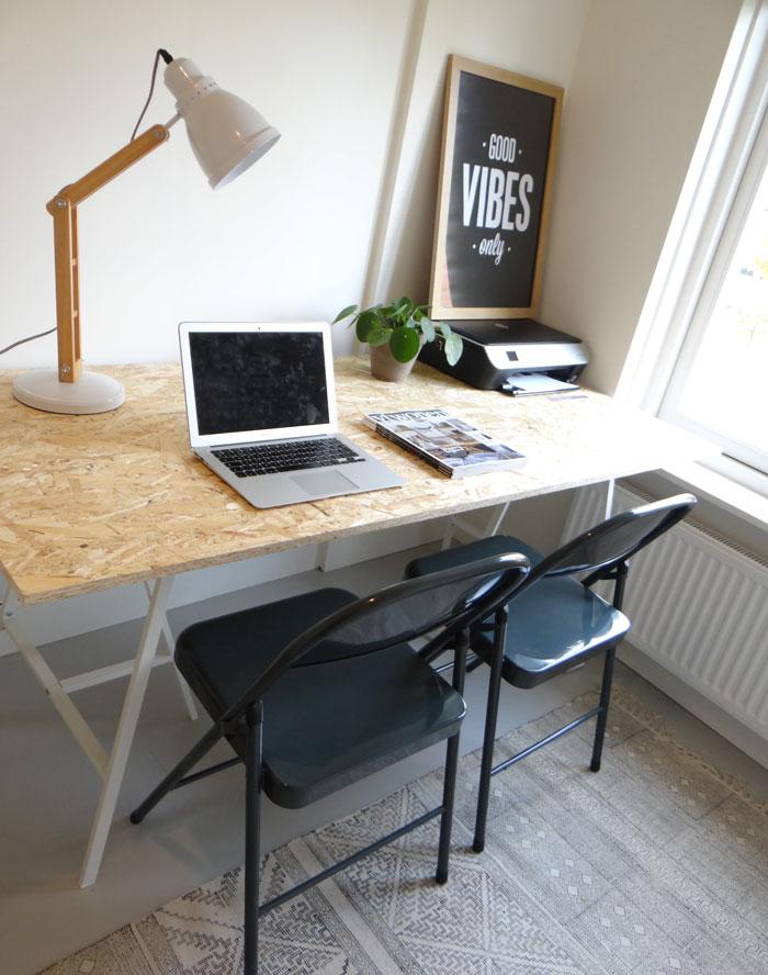 werkkamer met bureau