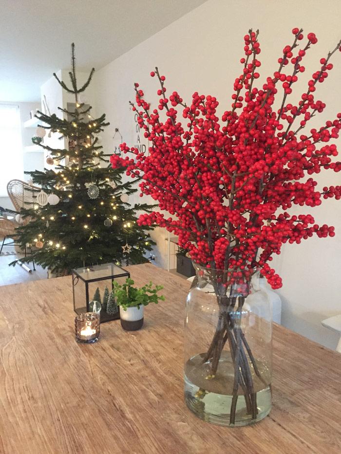 rode bessen kerstboom