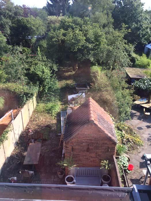 tuin van bovenaf