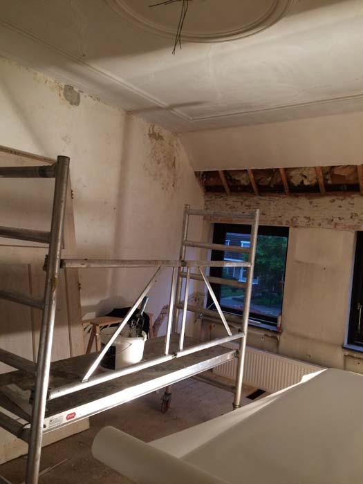 plafond herstellen vliesbehang