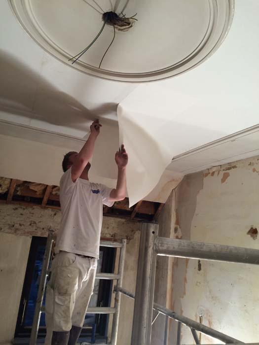 detailwerk plafond herstellen