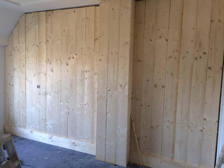 steigerhout wand maken