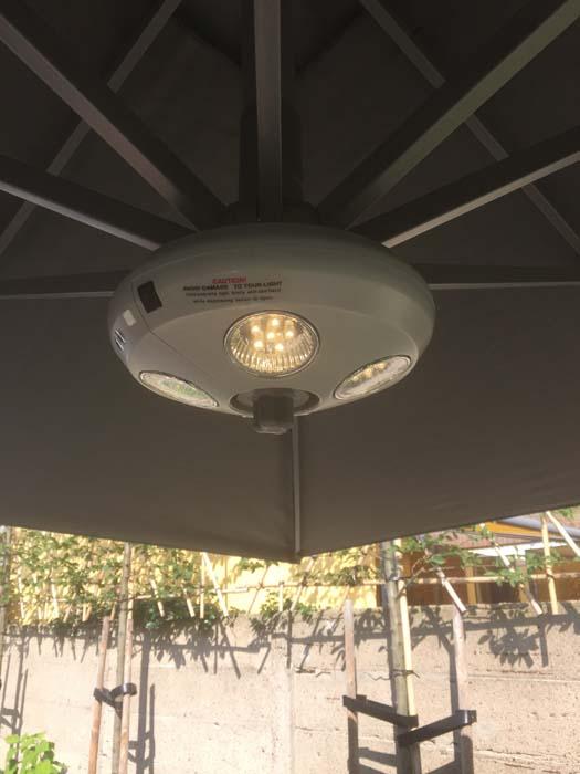 led lamp onder parasol
