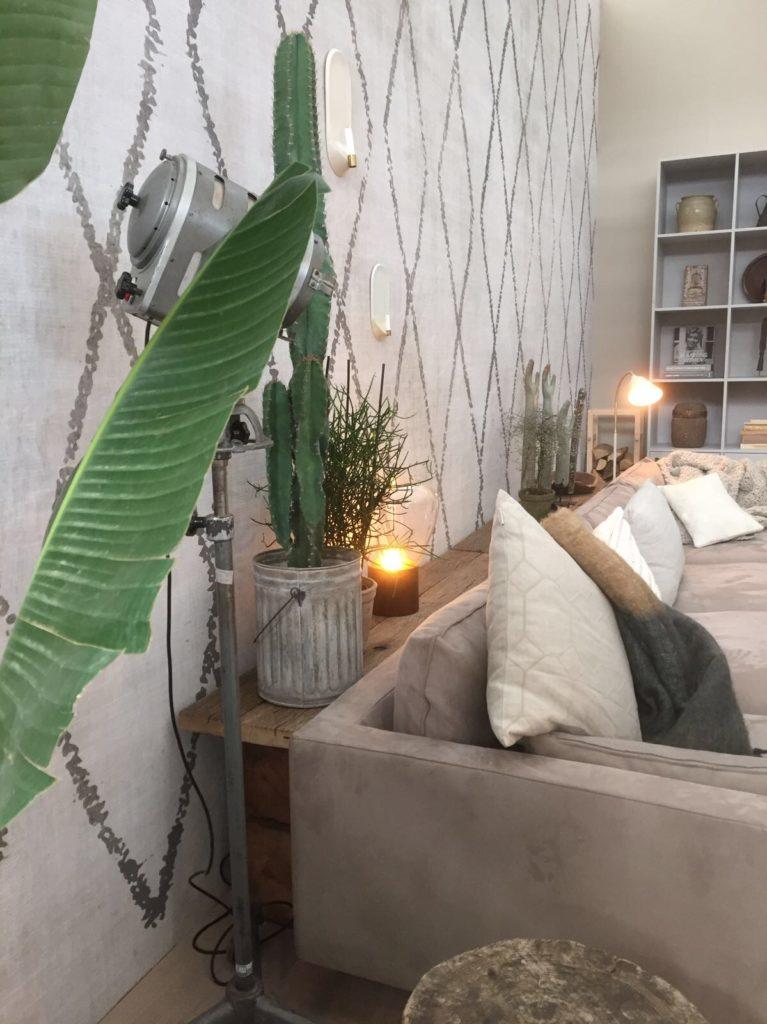 loungebank met planten