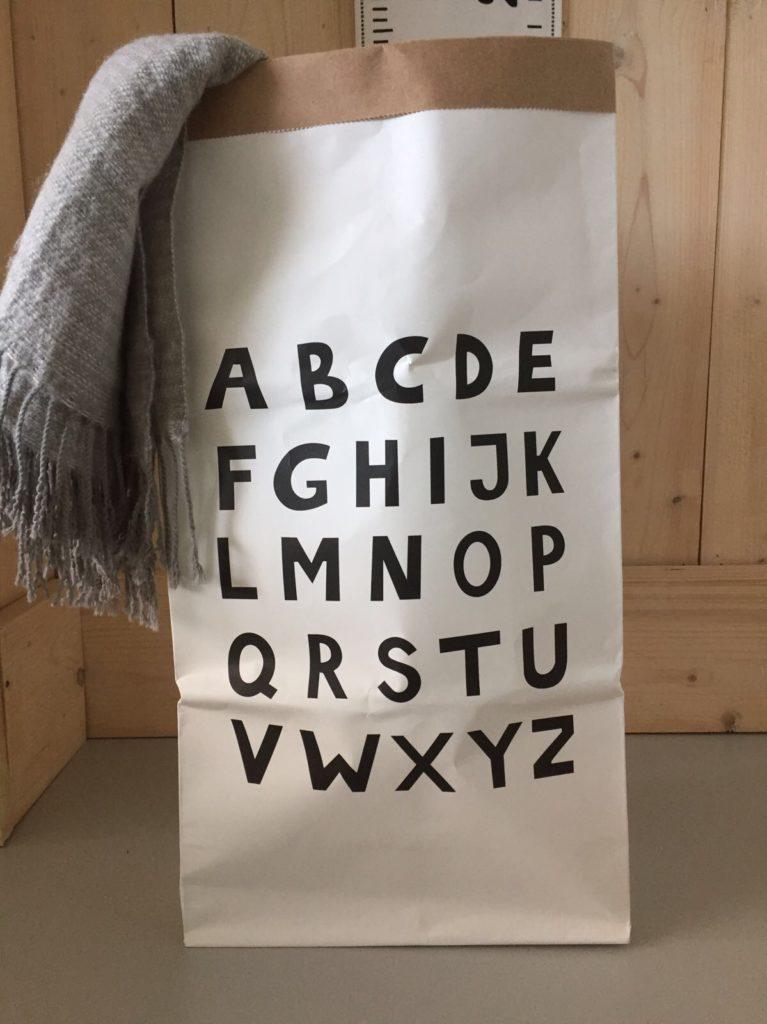 alfabet opbergzak