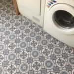 Vinyl vloer in het washok