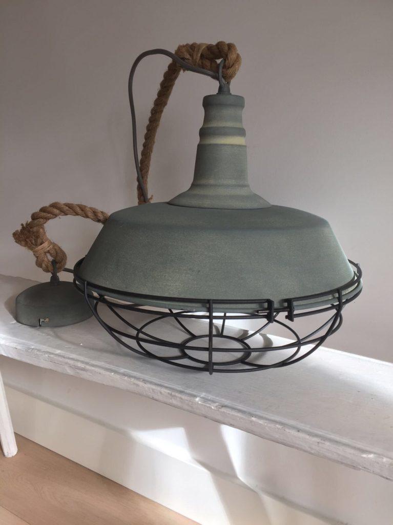 hanglamp dik touw