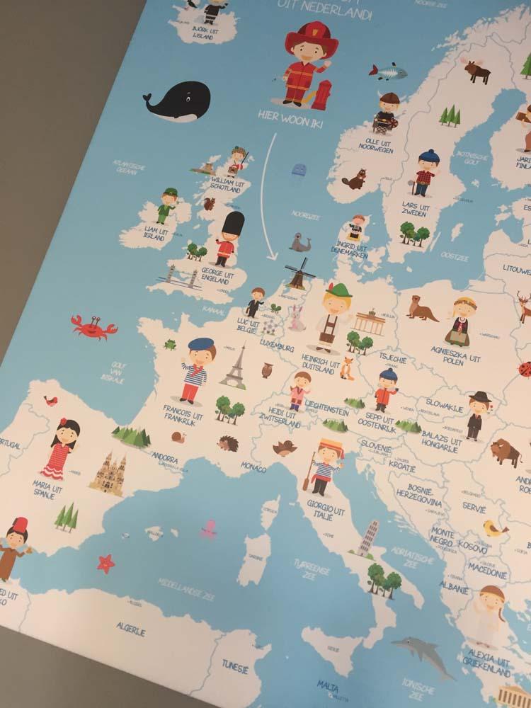 landkaart kinderen closeup