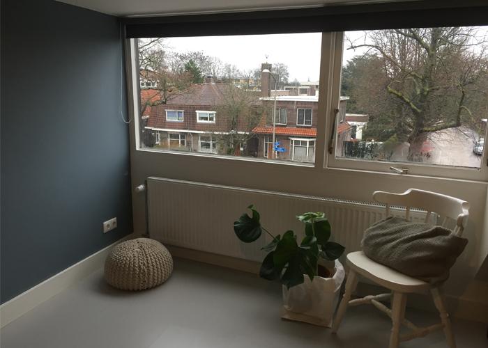 raamdecoratie rolgordijn grijs