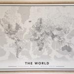 Wereldkaart op canvas & landkaart voor kinderen