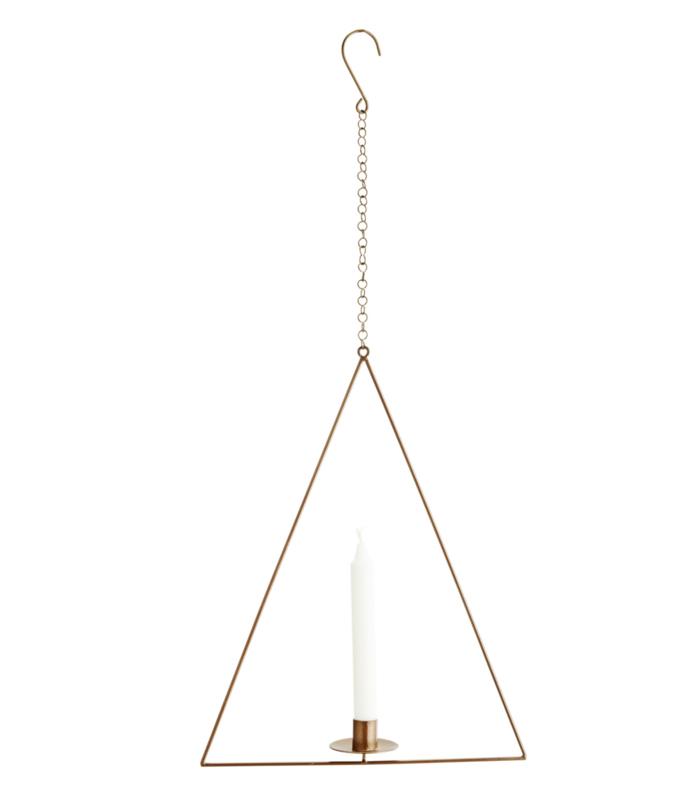 hangende kaarsenhouder triangel